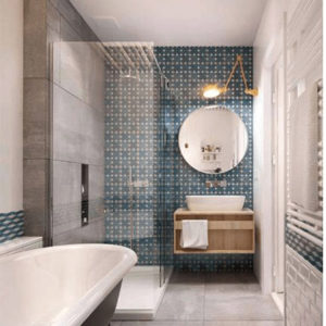 salle bain vintage retro